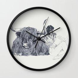 A Wandering Bull (Taurus) Wall Clock