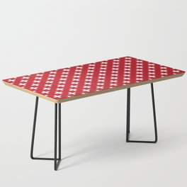 Criss Cross | Plus Sign | Red and White Coffee Table
