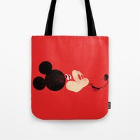mickey Tote Bags featuring Deconstructing Mickey by ErDavid