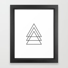 Minimal Trio Of Triangles Framed Art Print