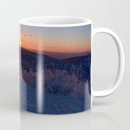 Alpenglow on Ester Dome at -31ºF Coffee Mug