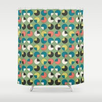 pie Shower Curtains featuring Pie Green by Kelly Tucker