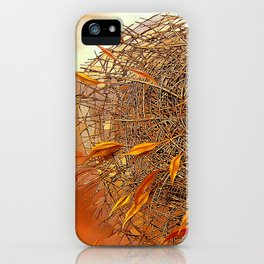 Golden with red. Nest iPhone Case
