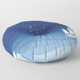 big dipper, sailboat Floor Pillow