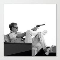 steve mcqueen Canvas Prints featuring Steve McQueen Vector by Erik Nilsson