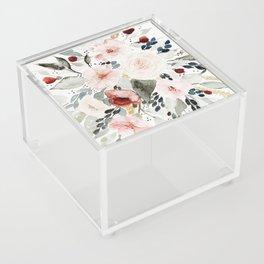 Loose Watercolor Bouquet Acrylic Box