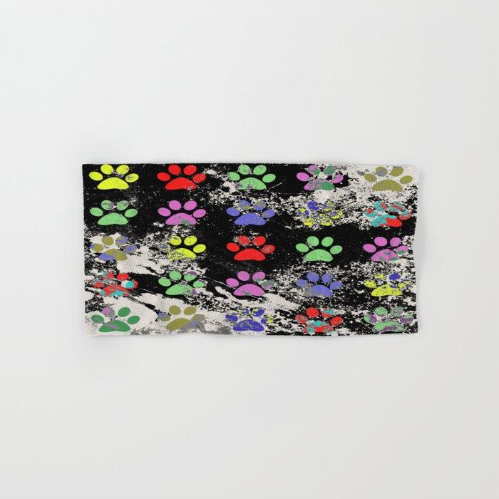 Paw Prints Pattern III - Textured Hand & Bath Towel