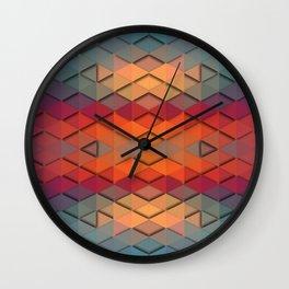 Purple On Fire Wall Clock