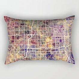 Omaha Nebraska City Map Rectangular Pillow
