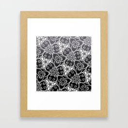 Candy Cane Tangle - Reversed Framed Art Print
