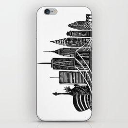 Linocut New York iPhone Skin