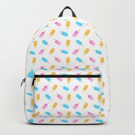 Ice to Meet You - Popsicles on White Backpack