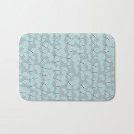 Butterflies Blue Vintage Bath Mat