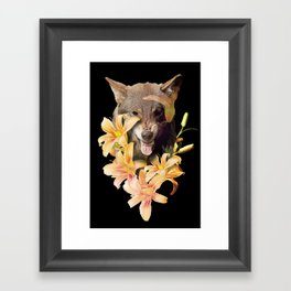 Wolfish flowers Framed Art Print