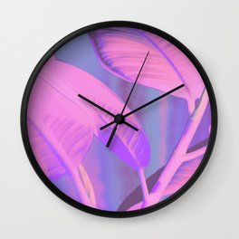 Rubber house plant Wall Clock