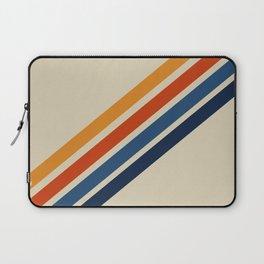 Rainbow 70s 60s Stripe Colorful Rainbow Tan Retro Vintage Laptop Sleeve