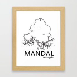 map of mandal Framed Art Print