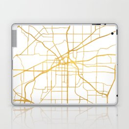 FORT WORTH CITY STREET MAP ART Laptop & iPad Skin