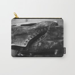 Black and White Vintage Ice Skates Carry-All Pouch
