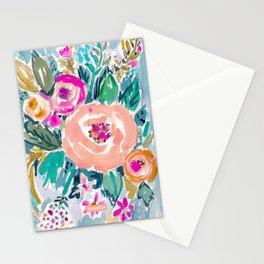 PEACH SPIN FLORAL Stationery Cards