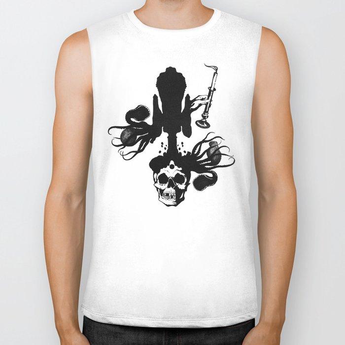 Flesh, Bone, Blood, Love Biker Tank