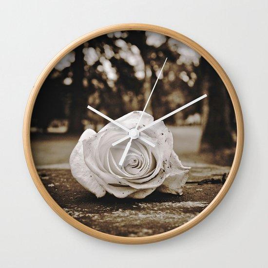 Symbolic rose Wall Clock