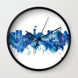 Kabul Afghanistan Skyline Blue Wall Clock