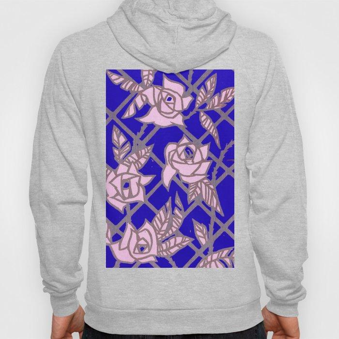 Royal Blue Rose Trellis Hoody