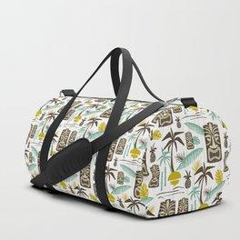 Island Tiki - White Duffle Bag