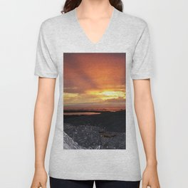 Sunset on the Rocks Unisex V-Neck