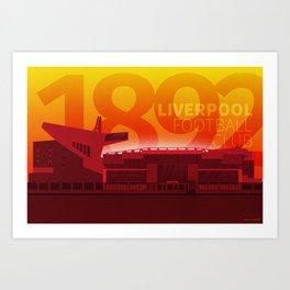 Anfield - LFC 1892 Art Print