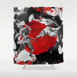 Samurai Fighting Shower Curtain