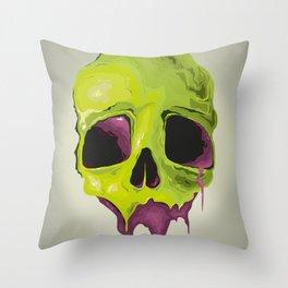 Liquid Skull Throw Pillow