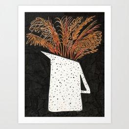 Autumn Still Life with Pampas Grass Art Print