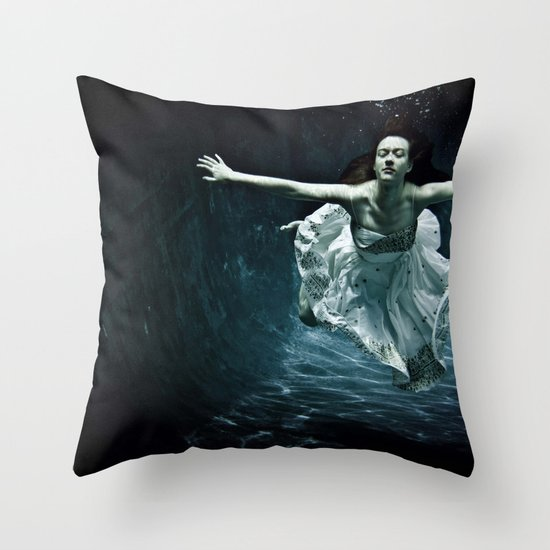 abyss of the disheartened : girl I Throw Pillow