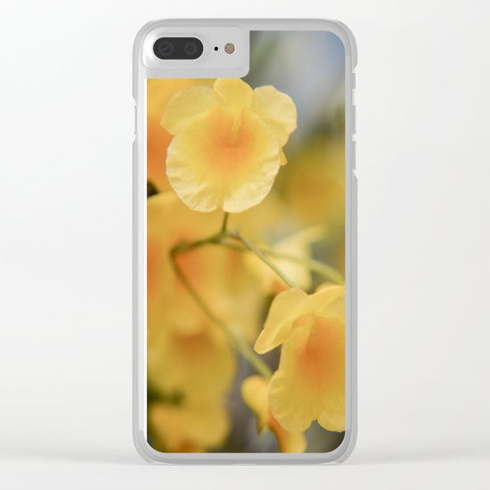 Happy Yellow Clear iPhone Case