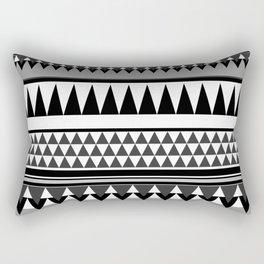 TRIBAL BOHEMIAN BLACK AND WHITE Rectangular Pillow