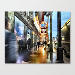 Moving Colours (Hollywood Boulevard) Canvas Print