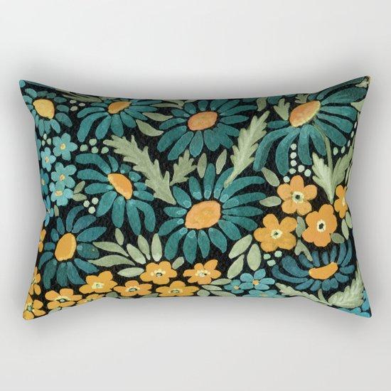 Watercolor . Chamomile field. 2 Rectangular Pillow