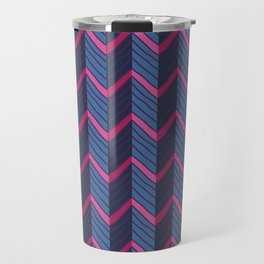 Multicolored chevron Travel Mug