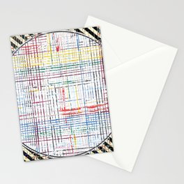 The System - line motif Stationery Cards