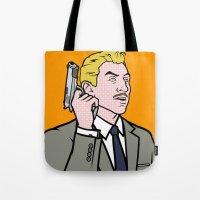 lichtenstein Tote Bags featuring Ray Lichtenstein by turantuluy