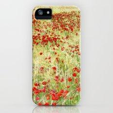 Windy poppies iPhone (5, 5s) Slim Case