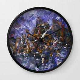 Intergalactic Battle Wall Clock