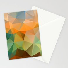 Colored polygon pattern. Stationery Cards