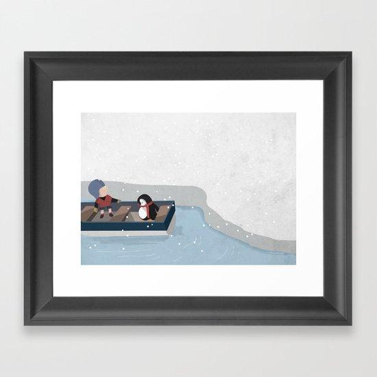 Reaching the South Pole Framed Art Print