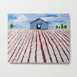 Cotton Country Metal Print