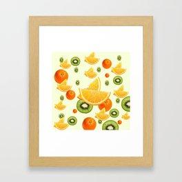 TROPICAL KIWI-ORANGES KITCHEN ART Framed Art Print