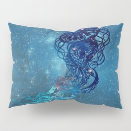 Blue Galactic Jelly Fish Pillow Sham