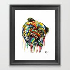 Sophisticated Bear Framed Art Print